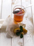 Tea and quince Stock Photos