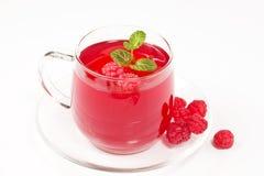 Tea with raspberry Royalty Free Stock Photo