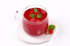 Tea with raspberry. Royalty Free Stock Photo