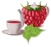 Tea. raspberry Royalty Free Stock Photo
