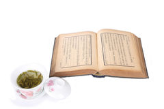 Tea and reading. One of traditional chinese culture, tea and reading royalty free stock image