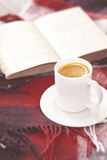 Tea and reading Stock Image