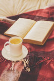 Tea and reading Stock Photo