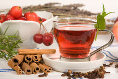 Tea in red stock photography