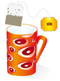 Tea in a red cup Royalty Free Stock Image