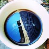 Tea. Reflected on a mug of tea Royalty Free Stock Image