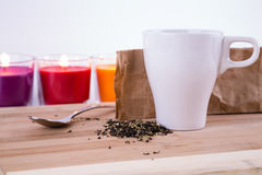 Tea relaxation. Tatar chay.Smes herbs Royalty Free Stock Image