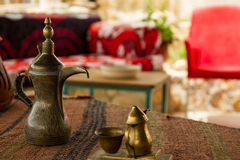 Tea ritual in Jordan Royalty Free Stock Photography