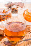 Tea with rock candy Royalty Free Stock Image