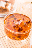 Tea with rock candy Stock Image