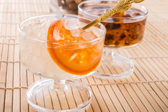 Tea with rock candy Stock Photography