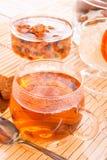 Tea with rock candy Stock Photos