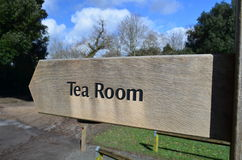 Tea room sign. Royalty Free Stock Photography