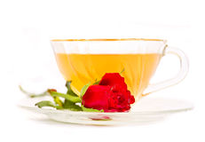 Tea and rose Stock Image