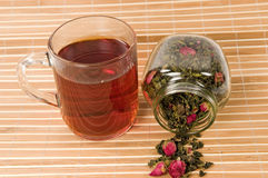 Tea with a rose Royalty Free Stock Image