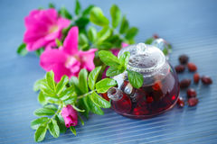 Tea with rose hips Stock Photo