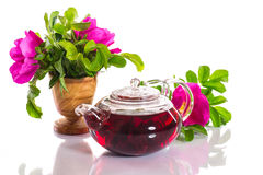 Tea with rose hips Royalty Free Stock Images