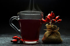 Tea with rose hips Stock Images
