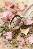 Tea with rose petals Stock Photo