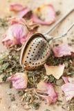 Tea with rose petals Stock Photo
