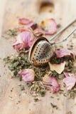 Tea with rose petals Royalty Free Stock Photos