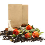 Tea with rose and spices Stock Images