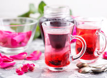 Tea with rose Royalty Free Stock Image