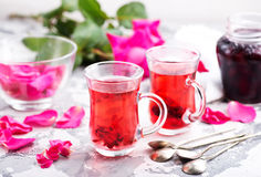 Tea with rose Stock Photography
