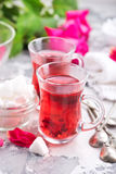Tea with rose Royalty Free Stock Images