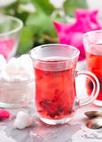 Tea with rose Stock Photos