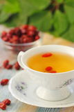 Tea with rosehip on a table. Useful drink for health. Herbal tea. Royalty Free Stock Photos