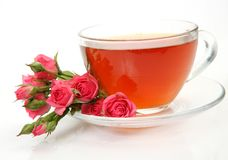 Tea and roses Royalty Free Stock Image