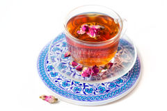 Tea with roses Royalty Free Stock Photo