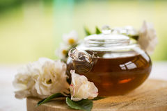 Tea with roses Royalty Free Stock Photography