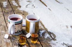 Tea and rum Royalty Free Stock Images