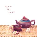 Tea & sakura_2 Stock Image