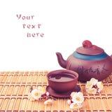 Tea & sakura_4 Stock Images