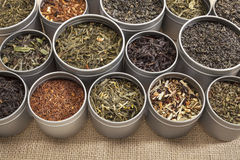 Tea samples background Stock Photography