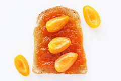 Tea sandwich with apricot jam Royalty Free Stock Image