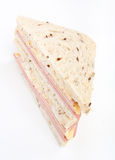 Tea sandwich with ham and cheese Royalty Free Stock Images