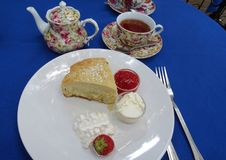 Tea and Scone Royalty Free Stock Photography