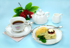 Tea And Scones Royalty Free Stock Photos