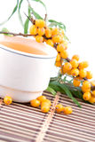 Tea with sea-buckthorn Royalty Free Stock Photo