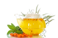 Tea with sea buckthorn Stock Photo