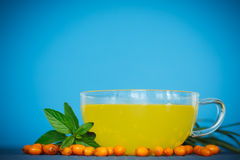 Tea with sea buckthorn Stock Photography