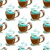 Tea seamless background Royalty Free Stock Image