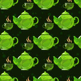 Tea seamless background Royalty Free Stock Photography