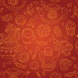 Tea seamless pattern. Vector illustration royalty free illustration
