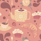 Tea seamless pattern Royalty Free Stock Image