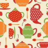Tea seamless pattern Stock Images